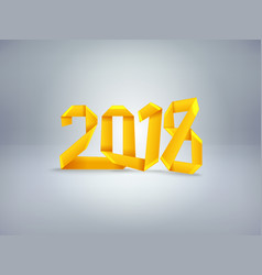 Introducing the new year happy new 2018 vector