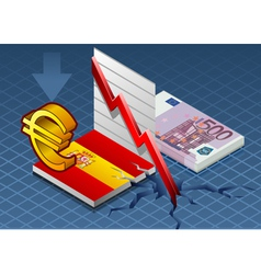 Isometric spain crisis vector image vector image