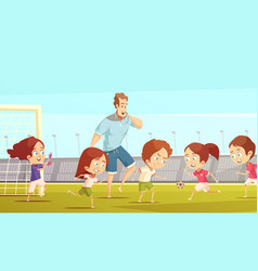 Kids sport cartoon vector