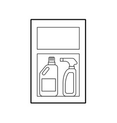Laundry shelf with products vector