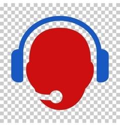 Operator head icon vector