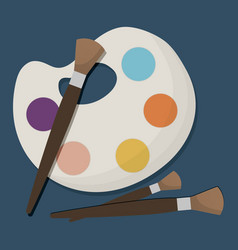 paint palette icon vector image vector image