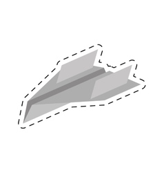 Paper plane different launch fly cut line vector
