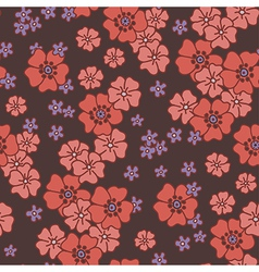 pattern poppy vector image vector image