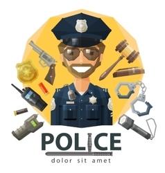 Police law constabulary logo design vector
