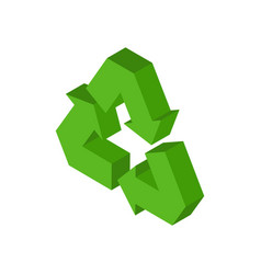 Recycling sign green recast symbol running emblem vector