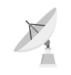 Satellite icon technology wireless space radio vector image