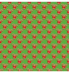 Seamless christmas pattern with candy cane stick vector