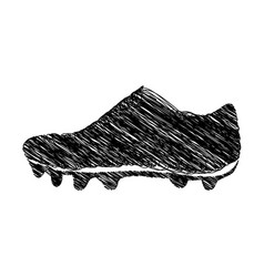silhouette drawing sneakers sport shoes vector image