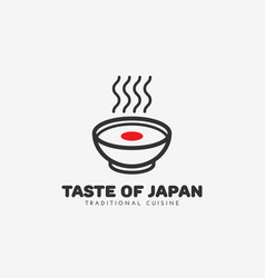 taste of japan logo vector image vector image