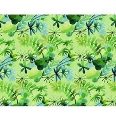 Watercolor spring pattern vector