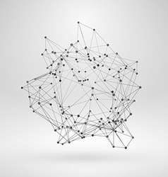 Wireframe polygonal element abstract 3d object vector