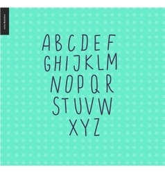 Uppercase alphabet 6 vector