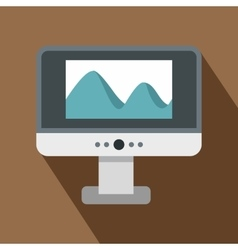 Computer monitor with photo on the screen icon vector