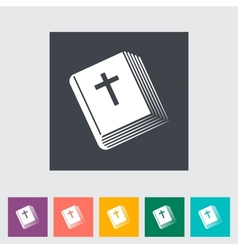 Bible flat single icon vector