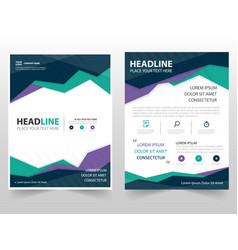 Colorful triangle geometric leaflet brochure vector