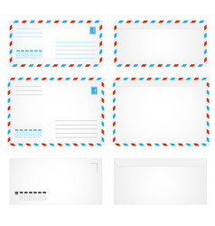 air envelope letter vector image