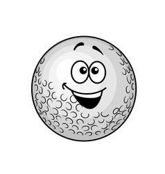Funny cartoon golf ball vector