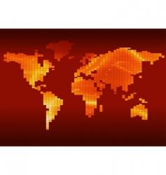 checkered world map vector image