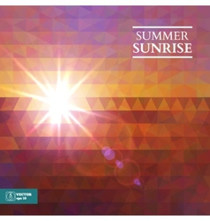 Abstract summer sunset background vector