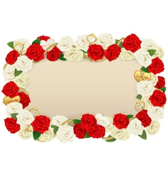 Romantic flower board vector