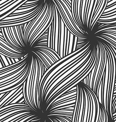 Abstract seamless background of striped leaves vector