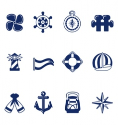 sailing icons vector image