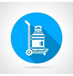 Water delivering blue round icon vector