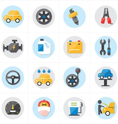 Flat icons for car service icons vector