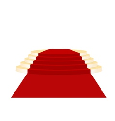 Gold place of honour and red carpet vector image
