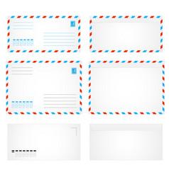 air envelope letter vector image