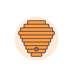Beehive flat icon vector image vector image