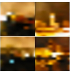 blurred landscape beautiful lighting night vector image