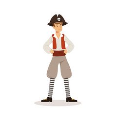 Brave pirate sailor character vector