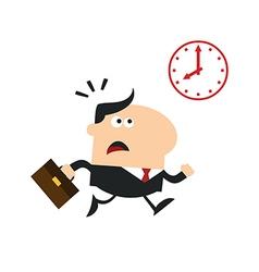 Businessman running late vector