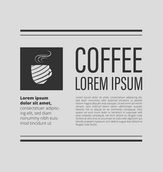 cafe coffee banner vector image