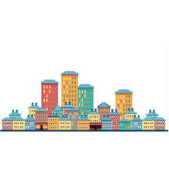 city on a white background vector image vector image