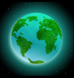 Earth planet with continents vector