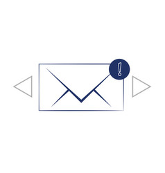 flat style icon of envelope e-mail vector image
