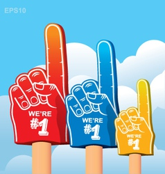 Foam finger fan vector