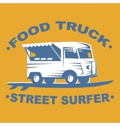 Food truck logo vector