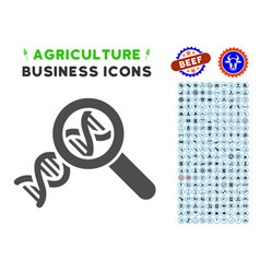 Genetics icon with agriculture set vector