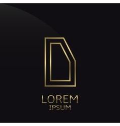 Golden D Letter vector image vector image