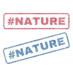 Hashtag nature textile stamps vector