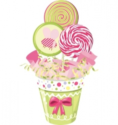 lollipop bouquet vector image