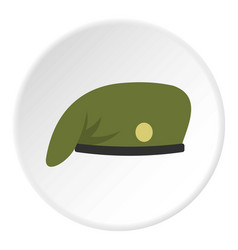 Military cap icon circle vector