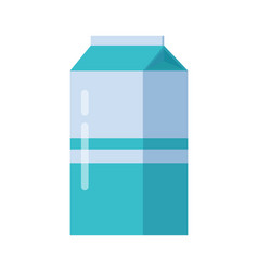 milk blue carton package isolated vector image