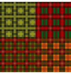 set plaid patterns tartan vector image vector image