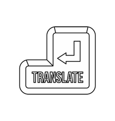 Translate button icon outline style vector image vector image