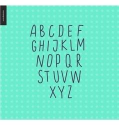 Uppercase alphabet 6 vector